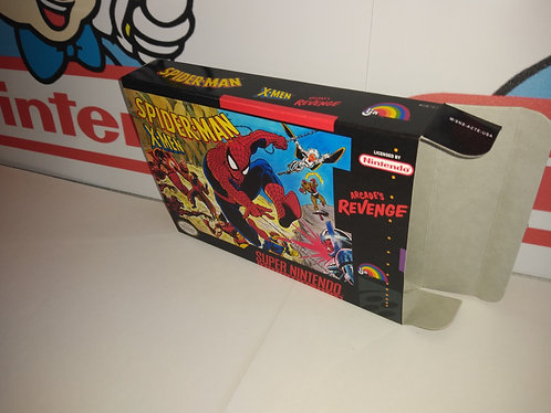 Spider-Man and the X-Men in Arcade's Revenge Box