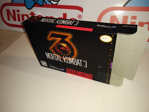 Mortal Kombat III 3 Box
