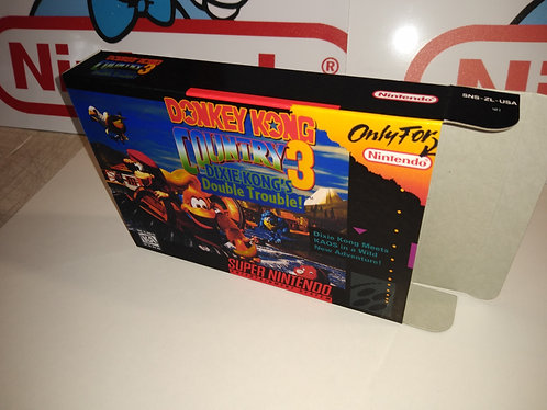 Donkey Kong Country 3 Dixie Kong's Double Trouble Box