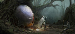 Digging out the orb