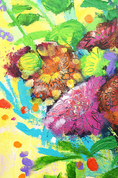 """""""Scraping Through - Floral Bouquet"""" by Artist Cor"""