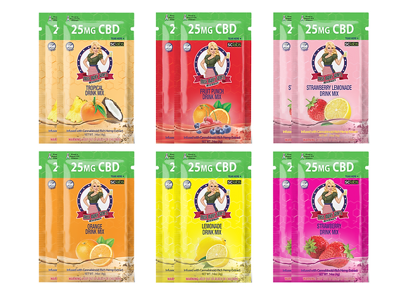12 PACK - 25MG CBD Drink Mixes