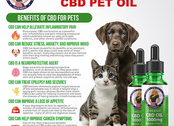Miss Mary Jane's 1000mg Extra Strength CBD Pet Oil