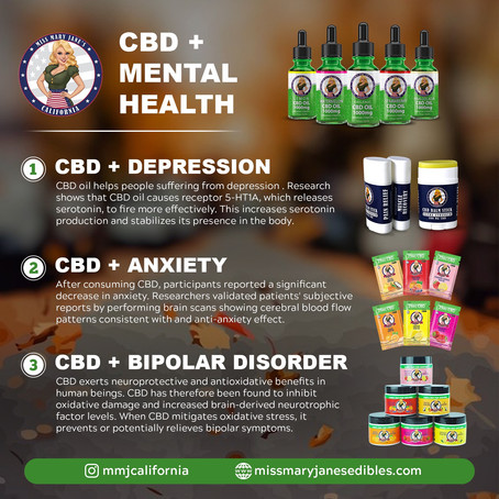 Miss Mary Jane's CBD Drink Mix may be beneficial for Anxiety & Depression