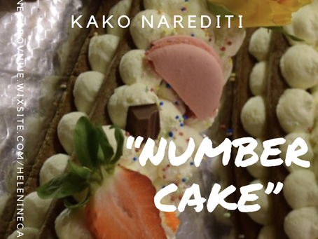 NUMBER CAKE (najbolj trendna torta leta 2018)