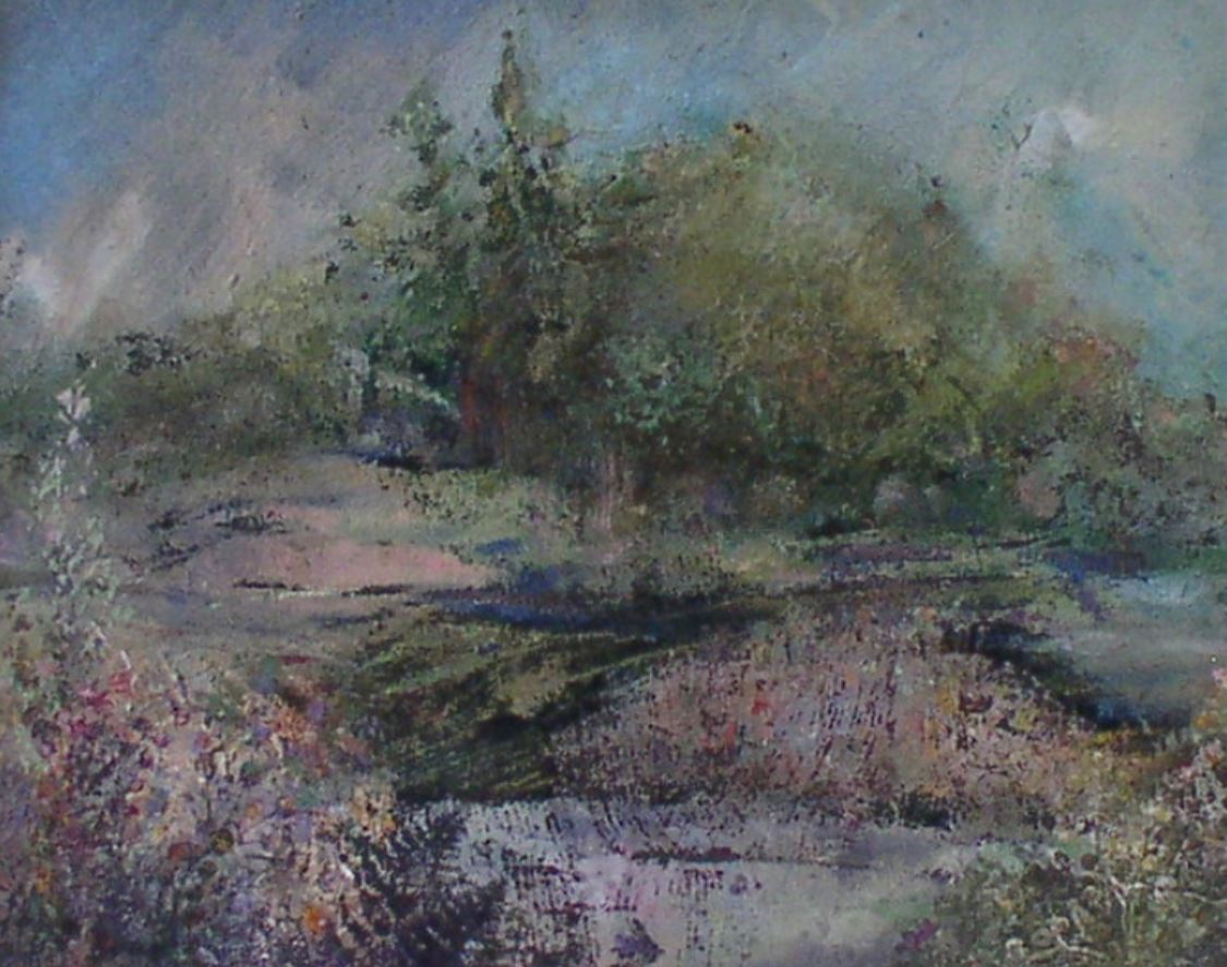 Late Summer Watermeadow by Val Tierney