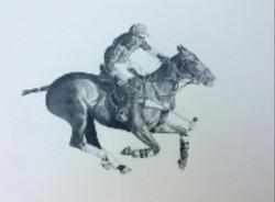 Horse and Jockey by Nandita Hoyes