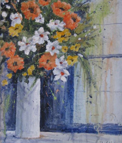 Tall White Vase by Pearl Hailstone