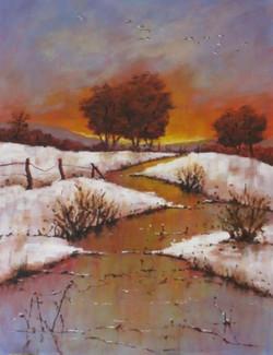 Winter Stream by Pearl Hailstone