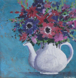 White Teapot by Pearl Hailstone