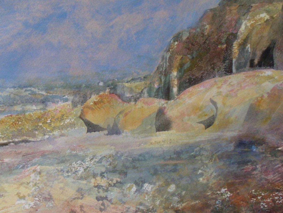 Normandy Beach by Val Tierney