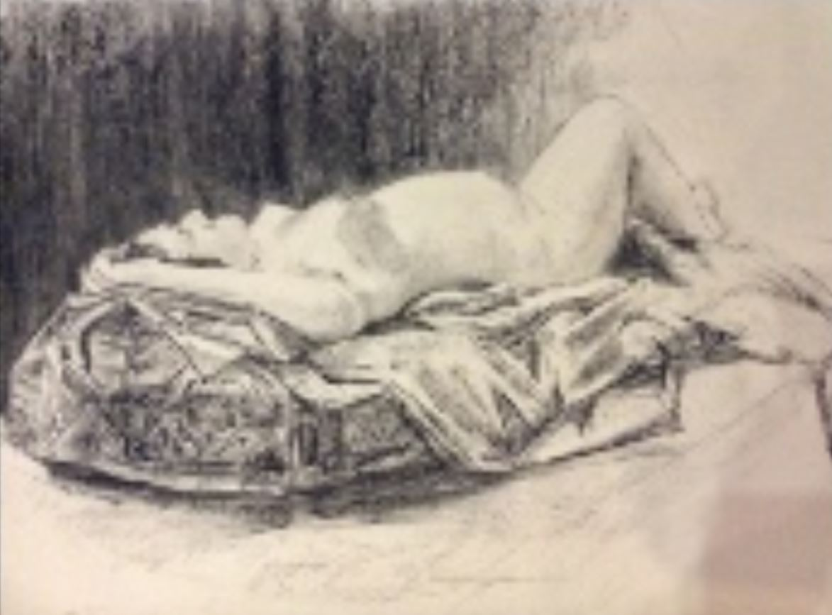 Reclining Nude by Nandita Hoyes