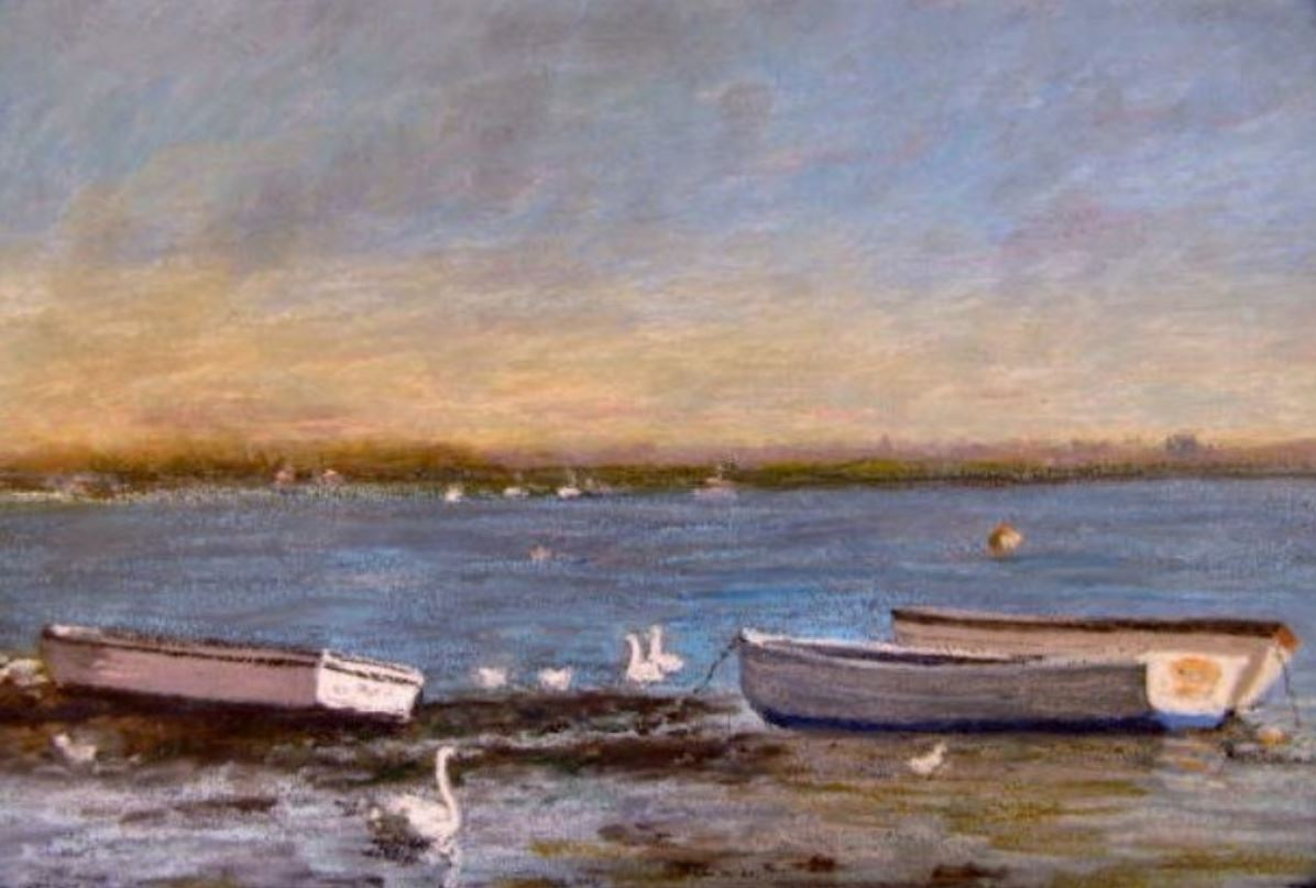 Low Tide at Emsworth by Marilyn Sheppard