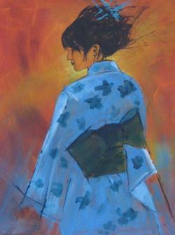 Blue Kimono by Pearl Hailstone