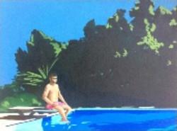 Swimmer on Springboard by Nandita Hoyes.