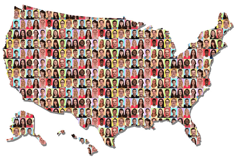 USA US America United States map multicu