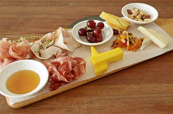 HoneyKist w/ Cheese, Cured Meat & Fruit Platter