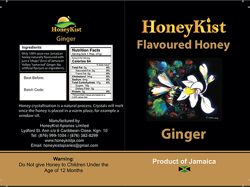 HoneyKist Ginger Flavoured Honey 5oz