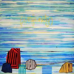 INFINITY  peinture sur toile 100x100 cm 2015
