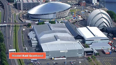 SEC Centre in Glasgow - Aerial view