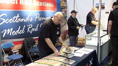 Model Rail Scotland stand at the SEC Centre