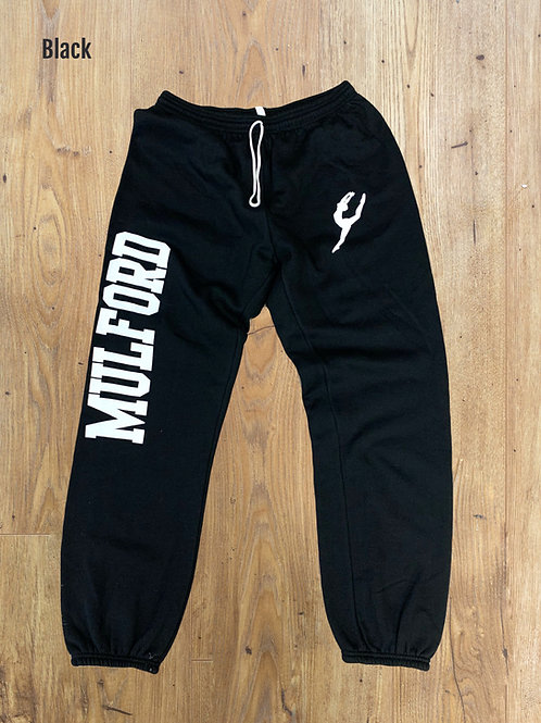 Mulford Logo Sweatpants - Black