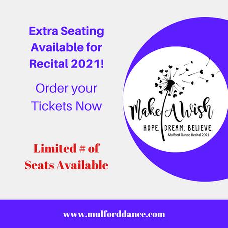 Extra Recital Tickets Available!