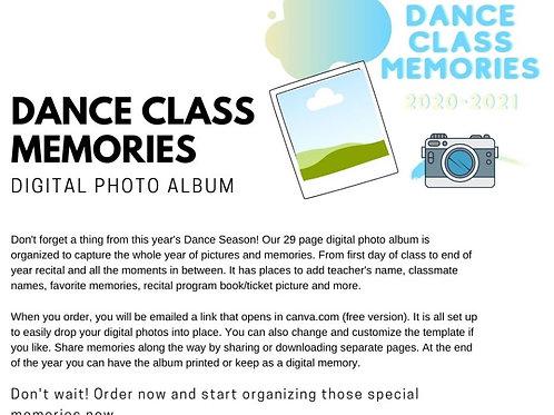 Dance Class Memories 2020-2021: Digital Photo Album