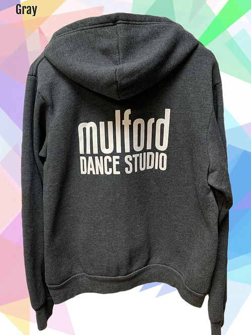 Mulford Dance Zip Up Hoodie-Gray