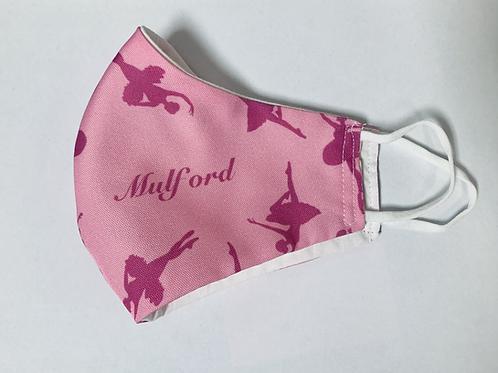 Adult Pink Logo Mask