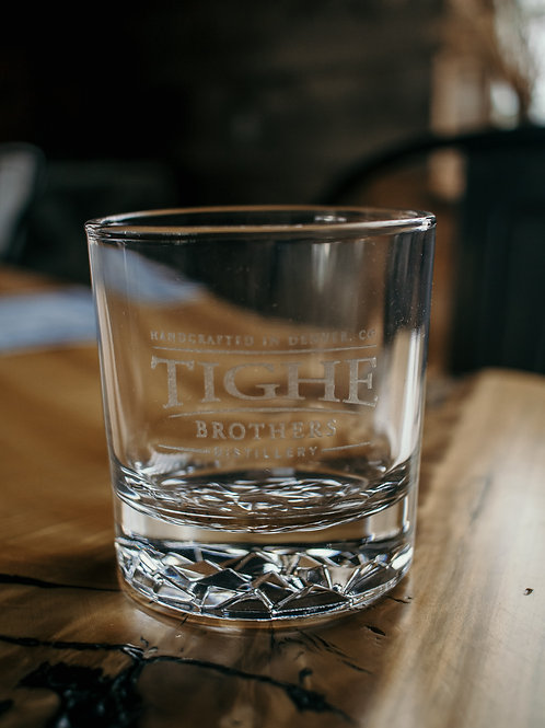 Tighe Brothers 11oz laser engraved Rocks Glass