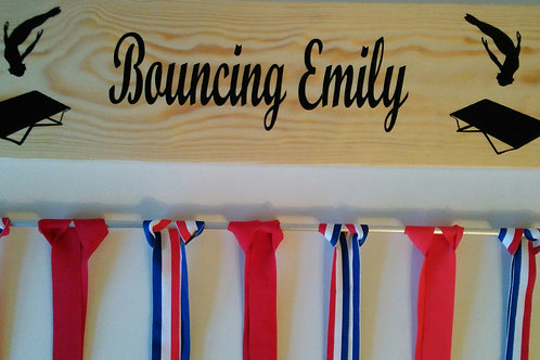 Personalised Trampolining Medal Hanger
