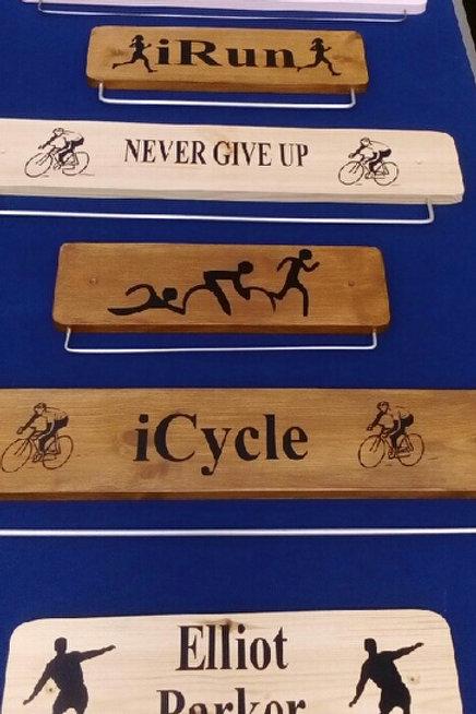 Oak Triathlon Medal Display Board (45cm w
