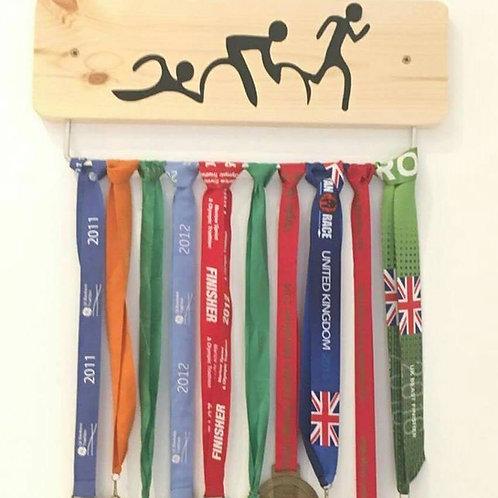 Pine Triathlon Medal Display Board (45cm width)