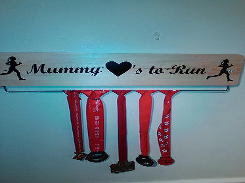 Mummy loves to run  70 cm oak/pine