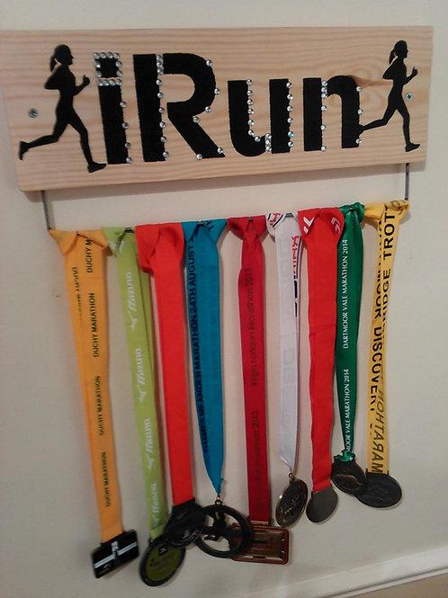 Running Medal Display Board Ladies (45cm wide)