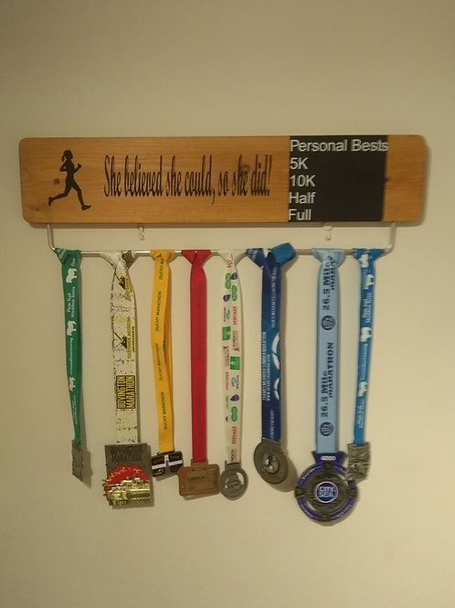 Personal Best Personalised Quote Medal Board