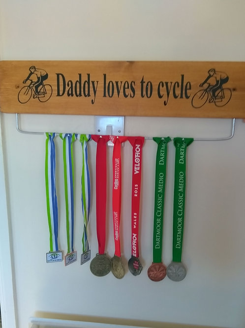 Daddy loves to cycle 70cm Oak Colour