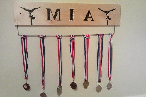 Personalised Gymnast Pine Medal Board(70cm)