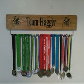 Oak Personalised CyclingMedal Board(70cm wide)