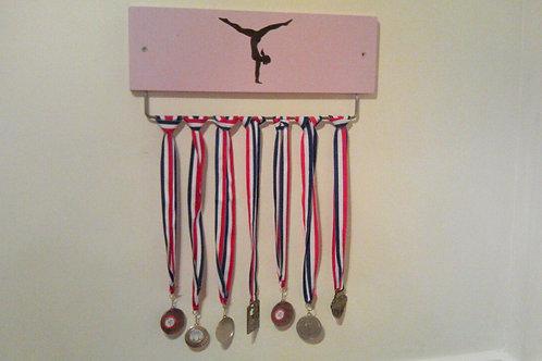 Pink Gymnastics Medal Display Board (Jewels)