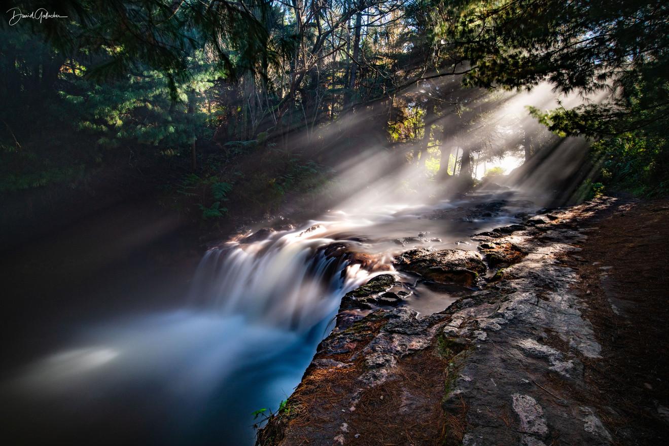 Sun beams Keronse Creek