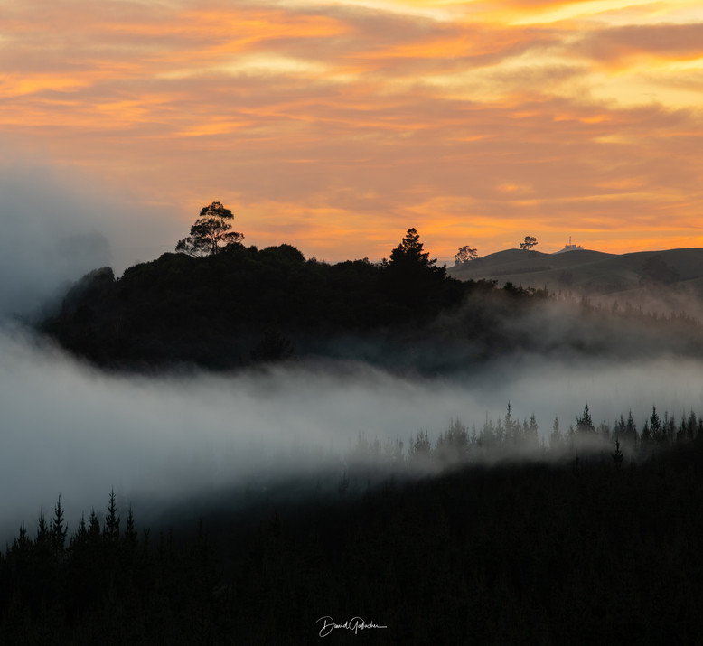 Foggy sunrise Craters of the moon