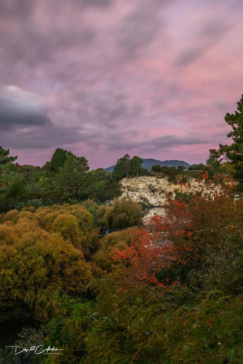 Pink sun set Mt Tauhara