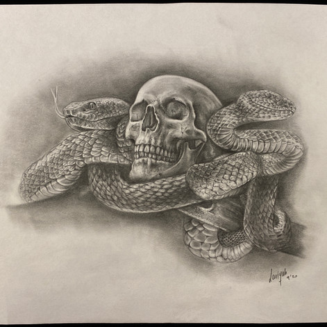 Skull and Snakes