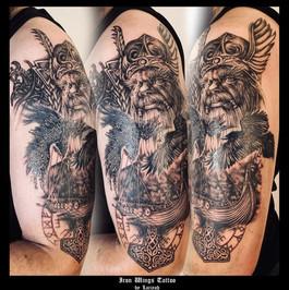 Odin - Norse Theme - Arm tattoo