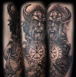 Odin - arm tattoo