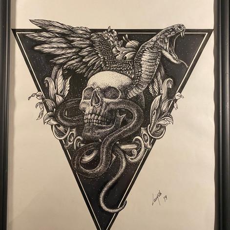 Iron Wings Tattoo tshirt design - 1