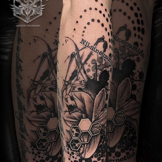 Thrash Polka design tattoo