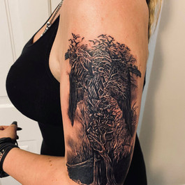 Zbigniew Beksinski tattoo